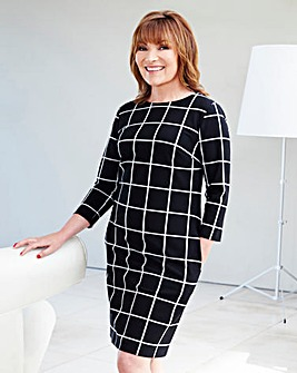 Lorraine Kelly Grid Print Tunic Dress