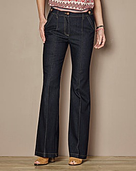 High Waisted Cotton Kick Flare Jean