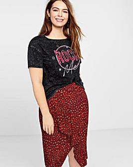 Violeta By Mango Slogan Tshirt