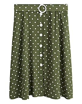 Violeta By Mango Polka Dot Skirt