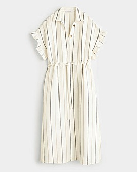 Violeta By Mango Stripe Midi Dress
