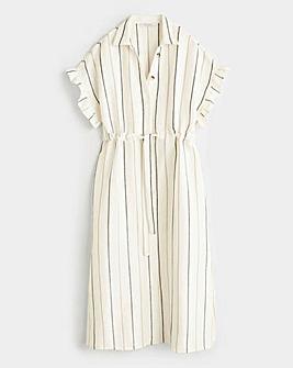 Violeta By Mango Stripe Midi Dress