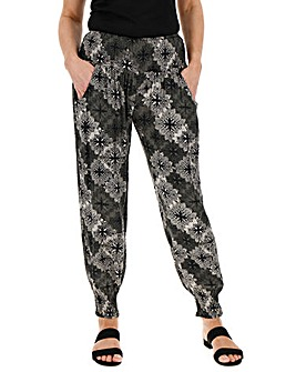 Apricot Printed Trousers