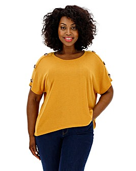 Apricot Button Sleeve Top