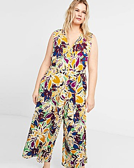 Violeta By Mango Tropic Jumpsuit