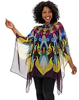Live Unlimited Luxe Bright Multi-Coloured Summer Kaftan