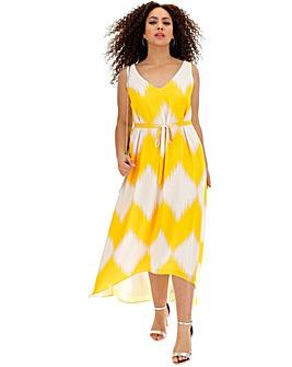 Live Unlimited Lime Print Maxi Dress