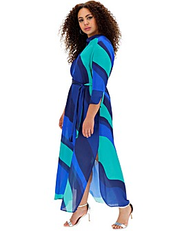 Live Unlimited Wave Print Maxi Dress