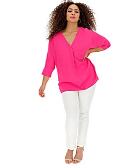Live Unlimited Luxe Pink V Neck Blouse