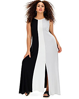Live Unlimited Colour Block Maxi Dress