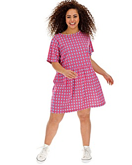 Daisy Street Checked Smock Dress