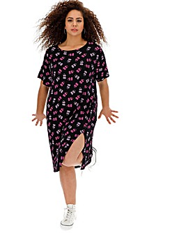 Daisy Street Heart Print Midi Dress