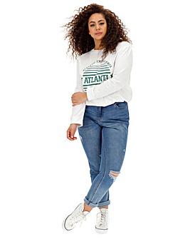 03f35c2964331 Daisy Street Atlanta Long Sleeve T-Shirt