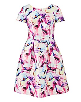 Chi Chi London Fit & Flare Floral Print Dress