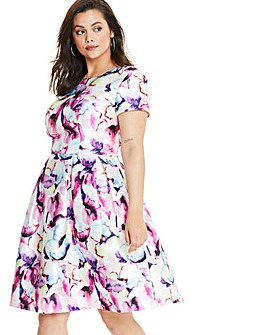 Chi Chi London Fit & Flare Floral Dress