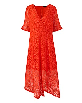 AX Paris Lace Wrap Asymmetric Dress