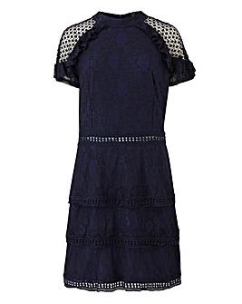 AX Paris High Neck Frill Lace Dress