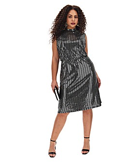 Junarose Sparkle Below Knee Dress