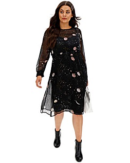 Junarose Moon Print Dress