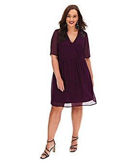 Junarose Wrap Chiffon Dress