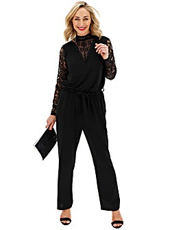 Junarose Lace Sleeve Jumpsuit