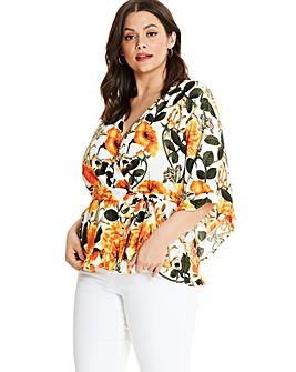 AX Paris Frill Detail Wrap Blouse