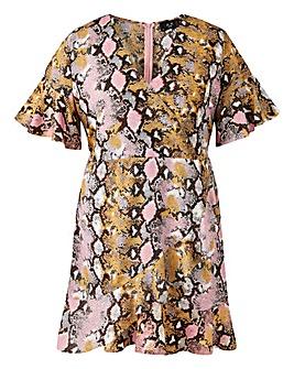 AX Paris Frill Detail Wrap Dress