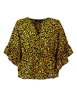 AX Paris Leopard Print Wrap Top