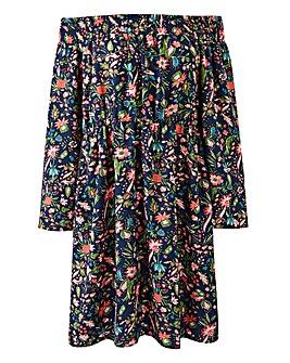 AX Paris Flare Sleeve Bardot Dress
