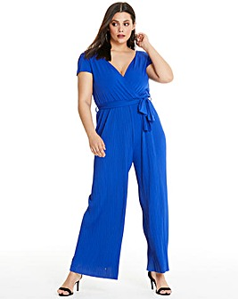 AX Paris Wrap Front Wide Leg Jumpsuit