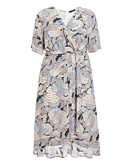 Quiz Printed Wrap Dress