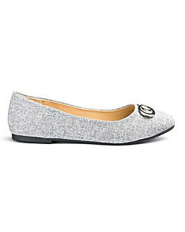 Trim Detail Ballerina Shoes E Fit