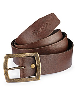 Wrangler Leather Central Bridge Brown Buckle Belt