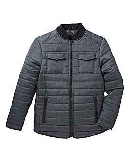 Label J Quilted Marl Nylon Jacket Long