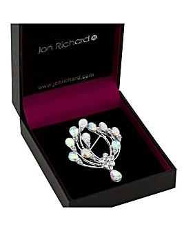 Jon Richard Floral Pear Drop Brooch
