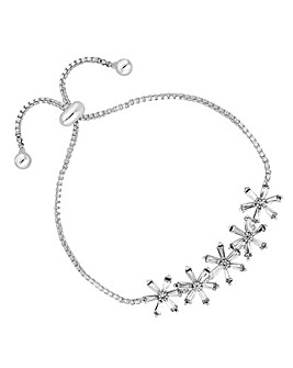 Jon Richard Flower Row Toggle Bracelet