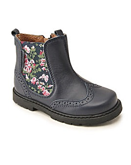 Start-Rite Chelsea Navy Leather/Floral F