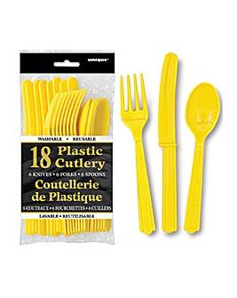 Assorted Plastic Cutlery 18 Piece Set