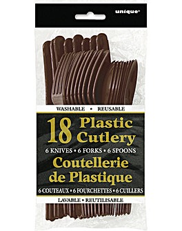 Assorted Plastic Cutlery 18 Piece Set
