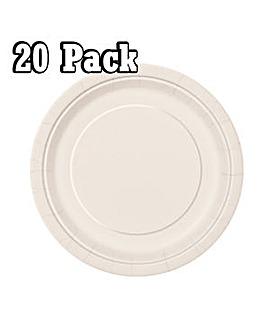 "7"" Round Paper Plates x 20"