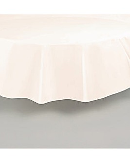 Round Plastic Table Cover 84""