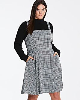 Mono Check Pinafore Dress