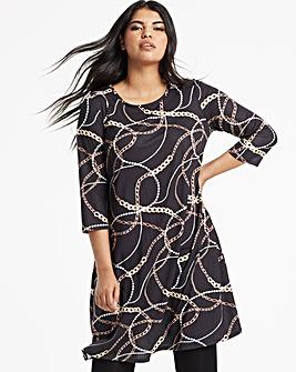 dee0eb425c8 Long Sleeve Swing Dress