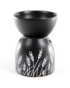 Black Ceramic Grass Pattern Oil Burner