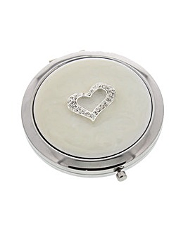 Sophia Compact Mirror With Heart