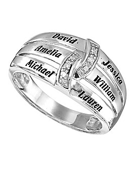 Precious Sentiments Silver Ladies Ring