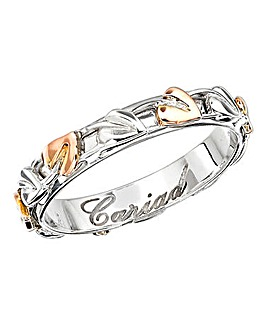 Clogau Sterling Silver and 9 Carat Rose Gold Tree of Life Narrow Band Ring