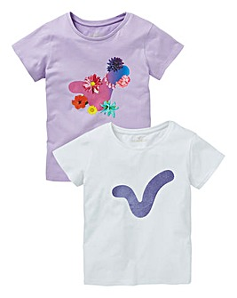 Voi Girls Two Pack of T-Shirts