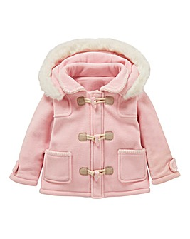 KD Baby Girl Fleece Duffle Coat