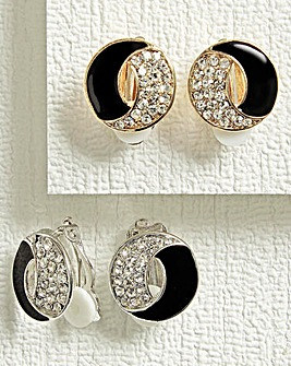 Crescent Moon Earrings Set of 2 Pairs